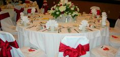 Embassy Suites Montgomery - Hotel & Conference Center, Al - Wedding Reception Red Decorations