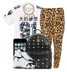"""""""."""" by trillest-queen ❤ liked on Polyvore featuring The Cassette Society, H&M, MCM and Retrò"""