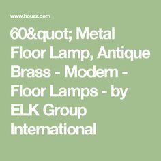 """60"""" Metal Floor Lamp, Antique Brass - Modern - Floor Lamps - by ELK Group International"""