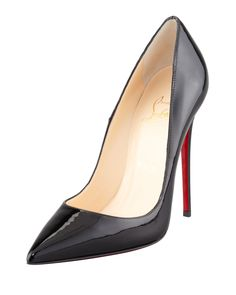 So Kate Patent Leather Point-Toe Pump, Black