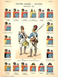 Королевство Бавария. Союзные войска Uniformes de I'Armee Francaise 1690-1894 Lienhart & Humbert