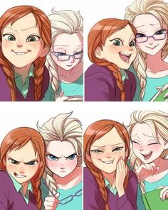 Frozen. Its like me and my brother X) i always try to take selfies with him and he's either reading of making angry faces.