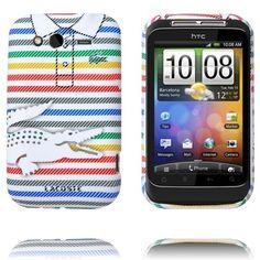Croco Shirt (Kritstrecks-Regnbåge) HTC Wildfire S-Skydd