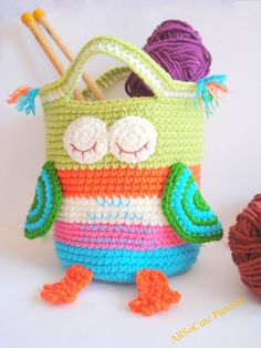 Crochet Bag Pattern Girls Purse INSTANT DOWNLOAD PDF by AllSoCute, $3.90