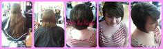 Hair by Kayla @bethanysstudio1 #shorthair #hugechange #longhairtoshorthair #asymmetricalhair #asymmetrical