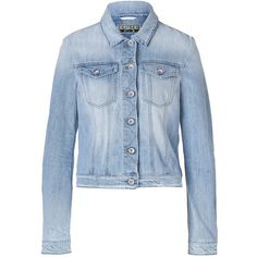 CLOSED Cotton Vauxhall Jean Jacket in Sky Blue ($365) ❤ liked on Polyvore