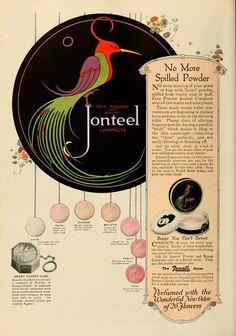 Jonteel Powder 1921 Pink Houses, Vintage Perfume, Perfume Oils, Face Powder, Graphic Design Art, Vintage Beauty, Vintage Ads, Illustrations, Retro Fashion