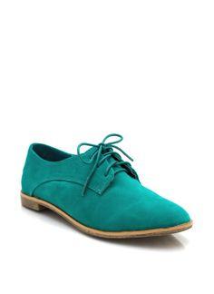 faux suede oxfords $26.70 in BLACK NATURAL SEAFOAM - New Shoes | GoJane.com