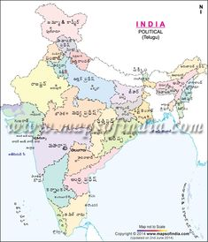 India Political Map In Marathi India Pinterest India And - World map marathi language