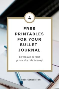Bullet Journal 2018 Free Printables January Edition