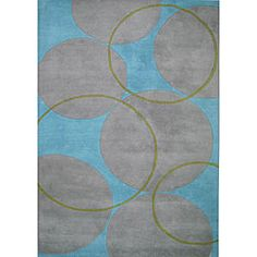 8 x 10  @Overstock - This fine hand-tufted and hand-carved rug is made using a rich wool blend. Custom-dyed yarns in shades of grey, aqua and green.http://www.overstock.com/Home-Garden/Hand-tufted-Rings-and-Circles-Wool-Rug-8-x-10/4813343/product.html?CID=214117 $300.59