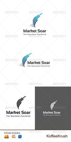Market Soar - Logo Design Template Vector #logotype Download it here: http://graphicriver.net/item/market-soar-logo/5228960?s_rank=28?ref=nexion