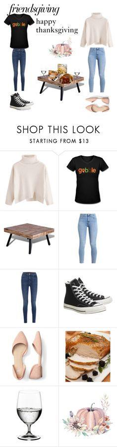 """""""friendsgiving"""" by dbuckles ❤ liked on Polyvore featuring J Brand, Converse and Riedel"""