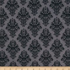 Black Magic Damask Black from @fabricdotcom  Designed by Dana Brooks for Henry Glass & Co., this cotton print is perfect for quilting, apparel and home decor accents.  Colors include