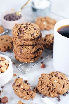 Hazelnut Chocolate Chip Cookies (Paleo GF  Dairy-Absolutely free)