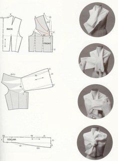 Inspiration for me to use when I'm exploring flat pattern drafting. - A selection of creative patterns (of Japanese books) Sewing Patterns Free, Sewing Tutorials, Clothing Patterns, Sewing Projects, Textile Manipulation, Dart Manipulation, Top Pattern, Pattern Paper, Bodice Pattern