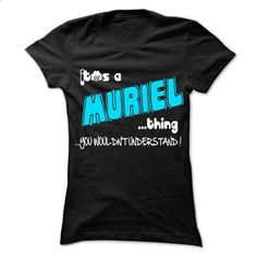 It is MURIEL Thing ... 999 Cool Name Shirt ! - #cropped sweatshirt #sweater for teens. SIMILAR ITEMS => https://www.sunfrog.com/LifeStyle/It-is-MURIEL-Thing-999-Cool-Name-Shirt-.html?68278