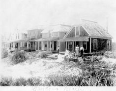 Cottages on the beach in Daytona Beach. | Florida Memory