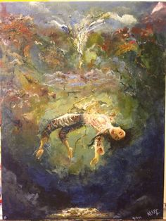 Drowning Dreams - Acrylic Painting on canvas - 12x16 inch - signed by MaxZgallery on Etsy