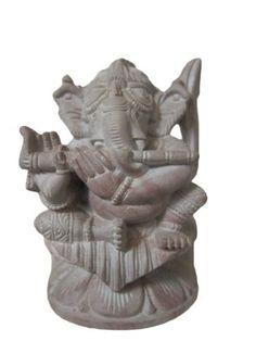 Ganesh- Handcarfted Statue Ganesha Stone Sculpture Playing Flute Yoga Decor 4 Inches by Mogul Interior, http://www.amazon.com/dp/B00CNYVYG0/ref=cm_sw_r_pi_dp_n3fJrb1SVH515