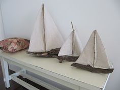make your own driftwood sailboat - tutorial... This would be a great little project with driftwood from Seaside next time J and I venture out west!