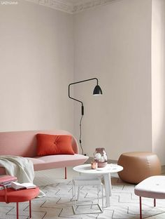 There's a hint of the Miami mixed in the Saint Tropez and Berlin. Interior Wall Colors, Room Wall Colors, Interior Walls, Interior And Exterior, Interior Styling, Interior Decorating, Interior Design, Jotun Lady, Paint Color Schemes