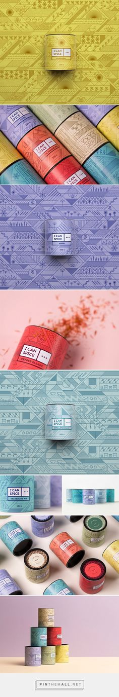 I Can Spice premium spices by DekoRatio Branding & Design Studio. Source: Daily Package Design Inspiration. Pin curated by #SFields99 #packaging #design #inspiration #ideas #creative #product #branding #can #spices #food #recipes