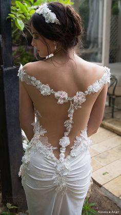 naama anat bridal 2017 off shoulder split sweetheart column wedding dress (romance) zbv illusion back