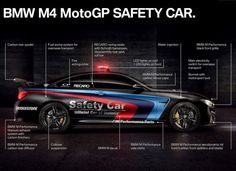 BMW is back again with another safety car for MotoGP, but in 2015, they're unleashing their dark side. Gone is the white livery with tri-color stripes that the past few cars have used. Instead, the new safety car is a BMW M4 Coupe in sinister-looking black.