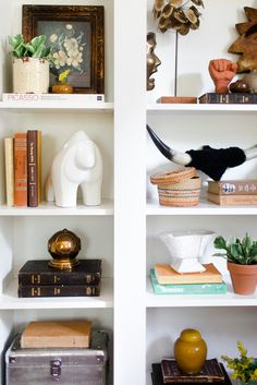 How to Style Bookshelves - Claire Brody Designs
