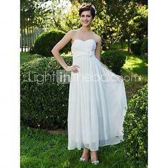 [USD $ 89.69] Sheath/Column Sweetheart Ankle-length Chiffon Wedding Dress