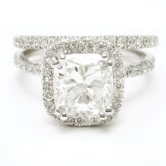 I'm SO obsessed!!!!!! - Cushion Cut Diamond Engagement Ring