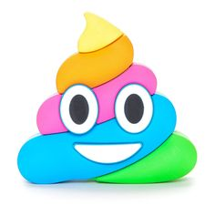 Dash Charms® Rainbow Poop Emoji Power Bank Portable Charger