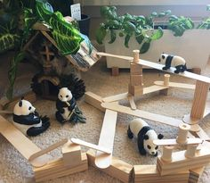 Check out this 'Panda Land' from one of our favourite creatives and experts in play, our sister/friend 🐼💕 Play Based Learning, Home Learning, Learning Through Play, Sensory Table, Sensory Bins, Toddler Activities, Activities For Kids, Block Area, Small World Play