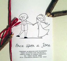 Share your love story with this custom coloring book for the kids table | 28 Creative And Meaningful Ways To Add A Personal Touch To Your Wedding