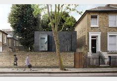 Architect has designed a discreet two-storey building in East Canonbury conservation area Georgian Buildings, Brick Architecture, Architecture Models, Kingston Upon Thames, Exterior Rendering, Brick Detail, Architect House, City Living, New Builds