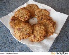 Ovesné sušenky s brusinkami Biscotti, Bagel, Christmas Cookies, Oatmeal, Bread, Cooking, Breakfast, Sweet, Desserts