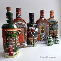 Совсем ского наступит Новый год! А у меня уже давно новогоднее настроение, т.к. мои заказчики в этом году проявили завидную предусмотрительность и я давно работаю над новогодними подарками и сувенирами. В этом году наибольшей популярностью пользуются рождественские бутылки-светильники. Я повторяю прошлогодние модели, придумываю новые домики. Есть и совсем новинка - рождественские домики-бутылки,…