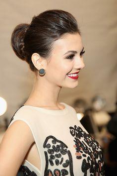 Victoria Justice Braided Bun - Updos Lookbook - StyleBistro