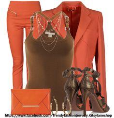 Bronze and orange