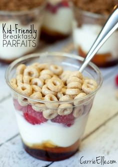 These easy and kid-friendly breakfast parfaits are perfect for busy mornings. The best part? Your kids will love that the Cheerios look like their Hot Wheels car tires!