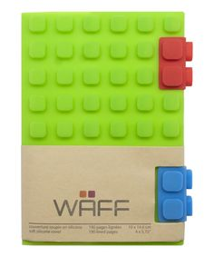 Look at this Green Waff Notebook on #zulily today!