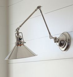 $268 Reed industrial swing arm wall sconce item #A5560