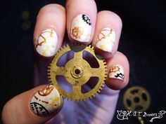 Nail Art Steampunk 03 by ~mewdragon on deviantART