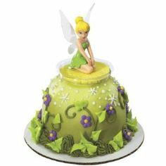 Tinkerbell Disney Fairies Cake Topper 1 Lying Down Cake Decorating Kits, Birthday Cake Decorating, Pretty Cakes, Cute Cakes, Peter Pan Cakes, Cake Kit, Cake Picks, Fairy Cakes, Festa Party