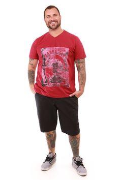 Camiseta colorida Plus Size