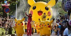 Invasão de Pikachu em Yokohama! Será que alguém conseguiu capturar um desses Pokémon?