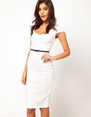 ASOS Midi Pencil Dress with Belt