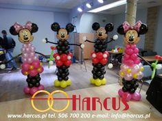 Myszka Mickey i Minnie z balonów