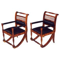 Uniquely Designed Viennese Biedermeier Armchairs